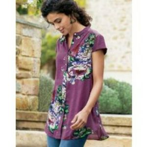 Soft Surroundings Bouquet of Roses Tunic Top